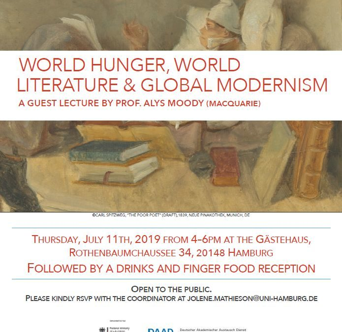 Guest Lecture: WORLD HUNGER, WORLD LITERATURE & GLOBAL MODERNISM
