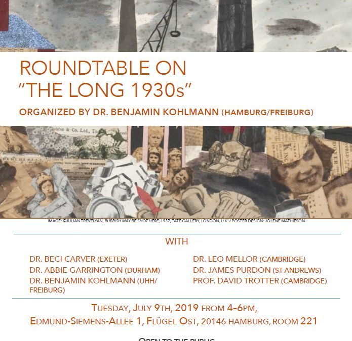 """ROUNDTABLE ON """"THE LONG 1930s"""""""
